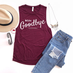 Tank Top Mockup -Bella + Canvas - Women's Flowy Muscle Tank - 8803 Maroon - Apparel Photography 3