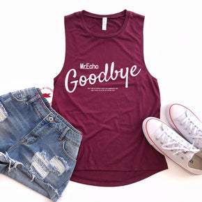 Tank Top Mockup -Bella + Canvas - Women's Flowy Muscle Tank - 8803 Maroon - Apparel Photography 6
