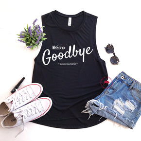 Tank Top Mockup -Bella + Canvas - Women's Flowy Muscle Tank - 8803 Black - Apparel Photography