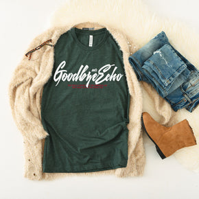Fall Mockup - Bella Canvas 3001 heather Forest T-Shirt Mockup - Apparel Photography - Flat lay 1