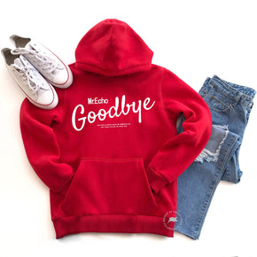 Hoodie Mockup - Sweatshirt Mockup - Hooded Sweatshirt - Styled Stock Photo Mockup - Red - Outfit flat lay - Shirt photography