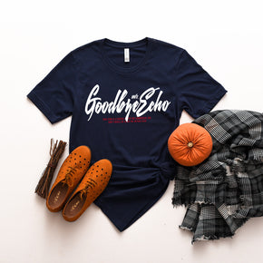 Fall Mockup - Bella Canvas 3001 Navy T-Shirt Mockup - Apparel Photography - Flat lay