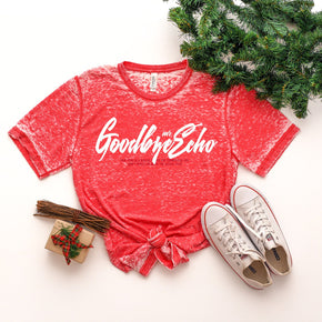 Christmas Mockup - Shirt Mockup - Bella Canvas 3650 Red Acid Wash - Outfit Flat lay - Apparel Photography