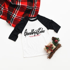 Christmas Mockup - Bella + Canvas - Toddler Three-Quarter Sleeve Baseball Tee - 3200T - Outfit Flat lay - Apparel Photography