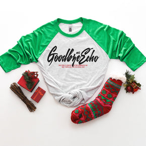 Christmas Mockup - Next Level - Unisex  Baseball Raglan Tee - 6051 - Outfit Flat lay - Apparel Photography 3