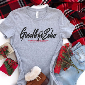 Christmas Shirt Mockup - Bella + Canvas - Women's The Favorite Tee - 6004 Athletic Heather - Outfit Flat lay - Apparel Photography