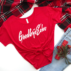 Christmas Shirt Mockup -Bella + Canvas - Women's Slouchy Tee - 8816 - Outfit Flat lay - Apparel Photography