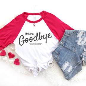 Valentine Raglan Shirt Mockup - Bella + Canvas - Three-Quarter Sleeve Baseball Tee - 3200 - Outfit Flat lay - Apparel Photography 6