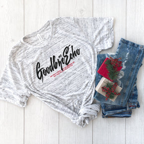 Christmas Shirt Mockup - Bella Canvas 3650 White Marble - Outfit Flat lay - Apparel Photography