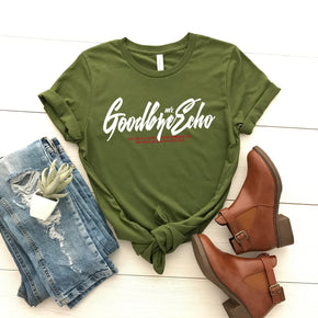 Shirt Mockup - Bella Canvas 3001 -  Olive - T-Shirt Mockup - Apparel Photography - Flat lay