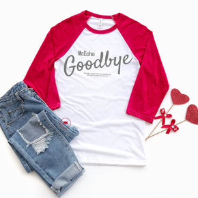 Valentine Raglan Shirt Mockup - Bella + Canvas - Three-Quarter Sleeve Baseball Tee - 3200 - Outfit Flat lay - Apparel Photography 5