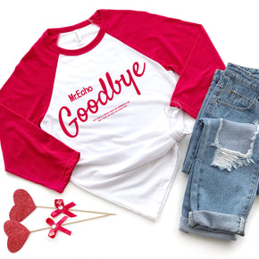 Valentine Raglan Shirt Mockup - Bella + Canvas - Three-Quarter Sleeve Baseball Tee - 3200 - Outfit Flat lay - Apparel Photography 3