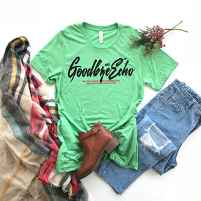 Shirt Mockup - Bella Canvas 3413 Green Tri T-Shirt Mockup - Apparel Photography - Flat lay 1