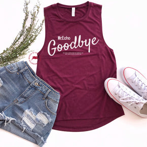 Tank Top Mockup -Bella + Canvas - Women's Flowy Muscle Tank - 8803 Maroon - Apparel Photography 4