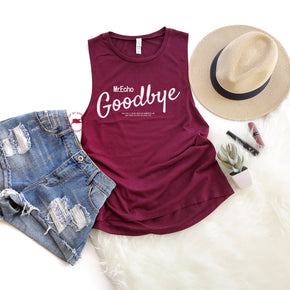 Tank Top Mockup -Bella + Canvas - Women's Flowy Muscle Tank - 8803 Maroon - Apparel Photography 7