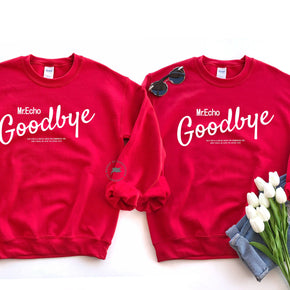 Couple Sweatshirt  Mockup -Gildan - Heavy Blend Crewneck Sweatshirt - 18000 mockup - Red - flat lay - photography