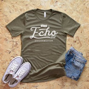 Shirt Mockup  - Bella Canvas 3001 Olive T-Shirt - Outfit Flat lay - Apparel Photography #0563
