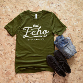 Shirt Mockup  - Bella Canvas 3001 T-Shirt -  Olive - Outfit Flat lay - Apparel Photography #0620