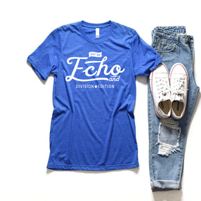 Shirt mockup - Bella + Canvas - 3001 Heather True Royal -  mockup - flat lay - photography #0899
