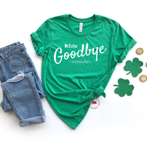 St Patrick's Day - Shirt Mockup - Bella Canvas 3001 - Heather Kelly - T-Shirt Mockup - Apparel Photography - Flat lay