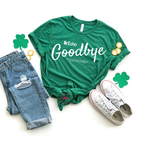 St Patrick's Day - Shirt Mockup - Bella Canvas 3413  Grass Green Tri T-Shirt Mockup - Apparel Photography - Flat lay