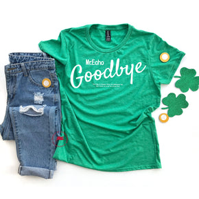 St Patrick's Day - Shirt Mockup - Anvil 880 Heather Green - Valentine flat lay - photography