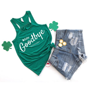 St patrick's day - Tank Top Mockup -Bella + Canvas - Women's Flowy Racerback Tank - 8800 Kelly - Apparel Photography