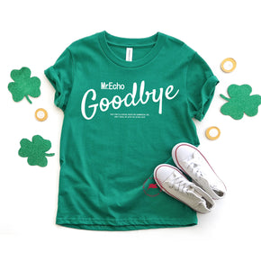 St Patrick's Day - Shirt Mockup - Bella Canvas Youth Short Sleeve Crewneck Jersey Tee 3001Y - Kelly - T-Shirt Mockup