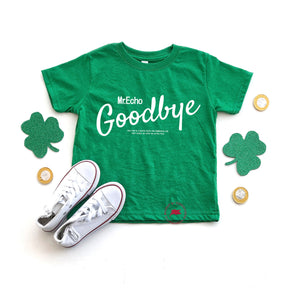 St.patrick day - Shirt Mockup - Rabbit Skins - Toddler Fine Jersey Tee - 3321 -Vintage Green T-Shirt Mockup - Apparel Photography - Flat lay