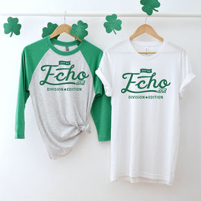 St Patrick's Day mockup -Next Level - Unisex Baseball Raglan Tee - 6051 - 3001 white - flat lay - photography #1051