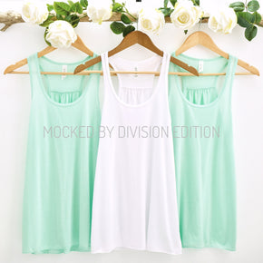 Bride Tank Mockup  - Bella Canvas 8800 tank top - Outfit Flat lay - Apparel Photography160