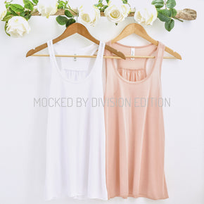 Bachelorette Tank Mockup  - Bella Canvas 8800 tank top - Outfit Flat lay - Apparel Photography121