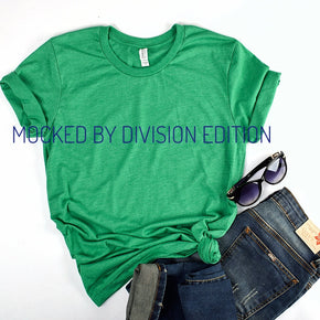 Shirt Mockup  - Bella Canvas 3001 T-Shirt -  Heather Kelly  - Outfit Flat lay - Apparel Photography #0607