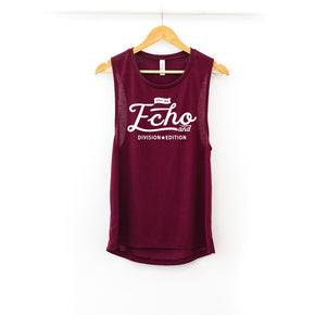 Tank Top Mockup -Bella + Canvas - Women's Flowy Muscle Tank - 8803  maroon - Apparel Photography #1126