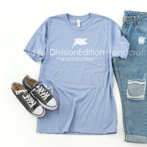 Shirt Mockup  - Bella Canvas 3001 T-Shirt  - Heather Blue - Outfit Flat lay - Apparel Photography #0662