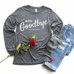 Valentine Shirt Mockup - Bella + Canvas - Long Sleeve Jersey Tee - 3501 - Deep Heather - Outfit Flat lay - Apparel Photography