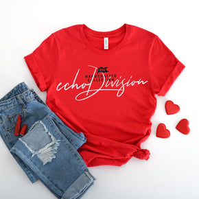 Shirt Mockup  - Bella Canvas 3001 T-Shirt -   Red - Outfit Flat lay - Apparel Photography #0576