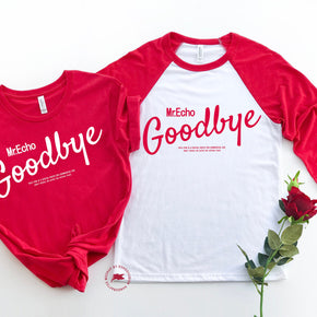 Valentine Shirt Mockup - Bella + Canvas - Baseball Tee - 3200 - 3001 Red -  Outfit Flat lay - Apparel Photography