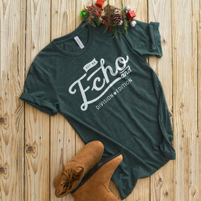 Shirt Mockup  - Bella Canvas 3001 T-Shirt -  Heather  Forest  - Outfit Flat lay - Apparel Photography #0592