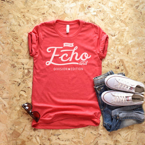 Shirt Mockup  - Bella Canvas 3001 T-Shirt -  Heather  Red  - Outfit Flat lay - Apparel Photography #0599