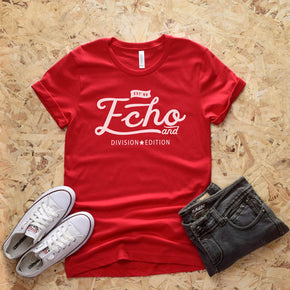 Shirt Mockup  - Bella Canvas 3001 T-Shirt -  Red  - Outfit Flat lay - Apparel Photography #0626