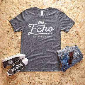 Shirt Mockup  - Bella Canvas 3001 T-Shirt -  Deep Heather - Outfit Flat lay - Apparel Photography #0591