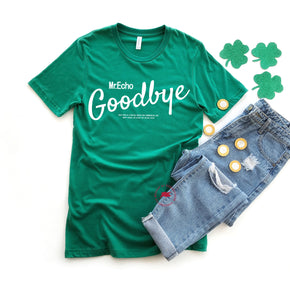 St Patrick's Day - Shirt Mockup - Bella Canvas 3001 - Kelly - T-Shirt Mockup - Apparel Photography - Flat lay