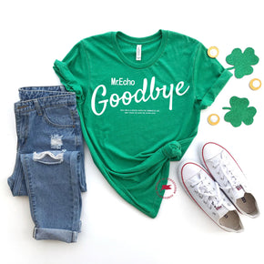 St Patrick's Day - Shirt Mockup - Bella Canvas 3001 - Heather Kelly - T-Shirt Mockup - Apparel Photography - Flat lay 1