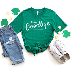St Patrick's Day - Shirt Mockup - Bella Canvas 3001 - Kelly - T-Shirt Mockup - Apparel Photography - Flat lay 1