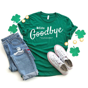 St Patrick's Day - Shirt Mockup - Bella Canvas 3001 - Evergreen - T-Shirt Mockup - Apparel Photography - Flat lay