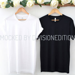 Couple Mockup  - Black + White Bella Canvas 3001 Shirt - Outfit Flat lay - Apparel Photography215