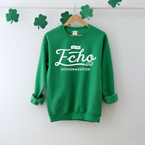 Sweatshirt mockup - Gildan  - Heavy Blend Crewneck Sweatshirt - 18000 mockup - Irish Green - flat lay - photography #1068