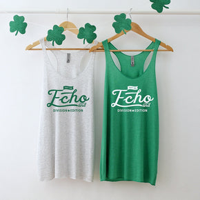 St. Patrick Tank top Mockup -Next Level - Women's Triblend Racerback Tank - 6733  -  Apparel photography #1056