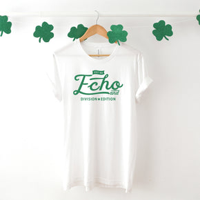 St Patrick's Day - Shirt Mockup  - Bella Canvas 3001 White Shirt - Outfit Flat lay - Apparel Photography #1050